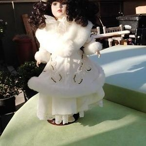 Other - Collectible Doll in Fur & Pearl Coat on a Stand